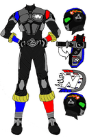 Kamen Rider Nitro design sheet by EX388
