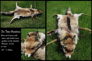 Red fox headdress FOR SALE by WolfRoad