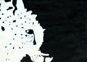 Amur Leopard Black and White Painting by Hyena27