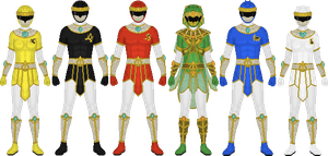 Requested: Desert-Themed Rangers by Taiko554