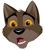 Free Balto Head Shaded Vector by Italian-Pitbull