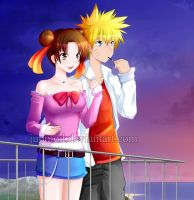 NaruTen: Sunset Quality Time Close-up by JuPMod