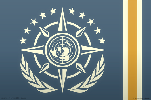 Unified Earth Systems Federation FLAG CONCEPT by MisterK91