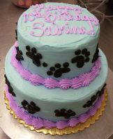 Paw Prints Cake by zoro-swordsman