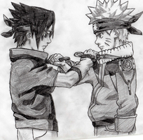Naruto and Sasuke by SobohP