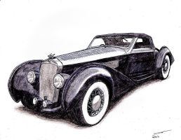 1103 - 1938 Delage D8-120 by TwistedMethodDan