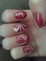Candy Cane Nails 2 by BiggieShorty