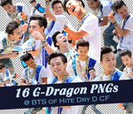 [PNG] 16 G-Dragon PNGs @ BTS of Hite Dry D CF by SammyYun