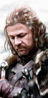Eddard Stark Bookmark by FloorSteinz
