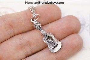 Guitar Necklace by MonsterBrandCrafts