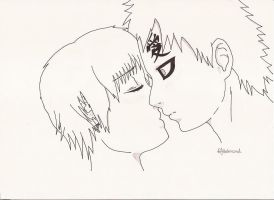 Longing To Kiss You, Gaara by sabakunoruby