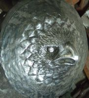 Eagle Head Buckler progress by TimeTurbine