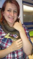 Me and my Macklots python by StormReptiles