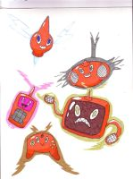 Rotom and the made up forms by MistrissTheHedgehog