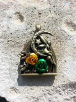 Green Fairy Door by BrokeCollegeCrafters