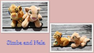 Applause Simba and Nala cub beanie by Laurel-Lion