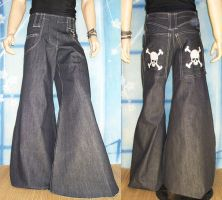 Skull Bones Pirate Phat Pants by RedheadThePirate