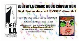 Edge of LA Comic Book Convention Card-Logo by mavartworx