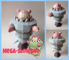 Mega Slowbro Papercraft by giden445