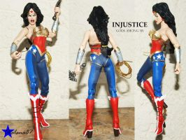 Injustice Gods Among Us Wonder Woman custom action by Chalana87