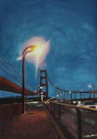 Golden Gate at Twilight: Painted by goldenConnpass