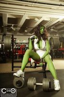 Margie Cox as She-Hulk 2 by moshunman