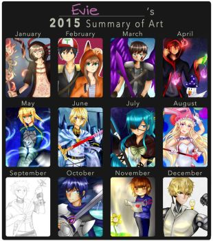 2015 Summary of Art by Jellieviefish