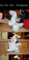 Yu-Gi-Oh Dragon Plushies by Darling-Poe