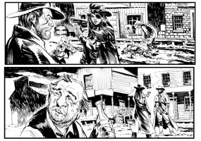 All Star Western #30, select panels by StazJohnson