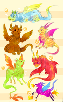 Dragon Adopts - OPEN by kuroeko-adopts