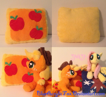 Applejack throw pillow by BlueAcrylicFox