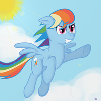 Rainbow Dash (for 2000 views) by wolfgangthe3rd