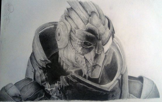 Garrus Vakarian drawing by charlie733