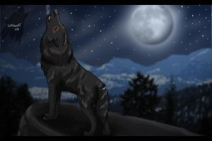 Dire Wolf Howl by lone-wolf-666