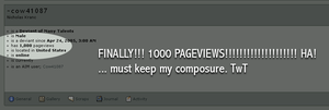1000 Pageviews by cow41087
