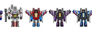Fan of G1 S1 Decepticons by theSpaniel