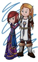 Solanna and Keinnae commission by MalisVitterfolk