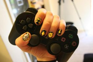 Round 1: Skullgirls Nails by GothicLeafeon