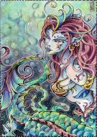ACEO 124: Fairyland - Mermaid by WojikHell