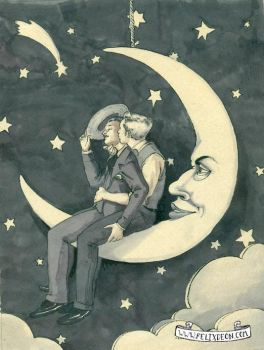Paper Moon by TheMaleNudeStock