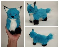 Blue Fox Plush by Mermade4u