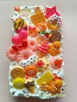 Kawaii decoden iphone 4 Fruity case by Luna-Goodies
