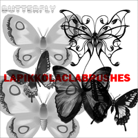 Butterlies Brushes by LaPikkolaCla