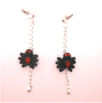 Miniature Itsy-Bitsy Spider on earrings by MiniSweetx