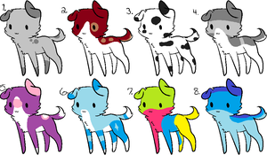 Multiple Puppy Adoptables CLOSED by blackyball22