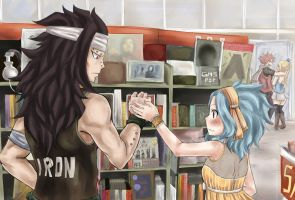 Gajevy week day 7: AU (Music Store) by Karokitten-chan