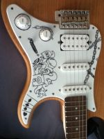 customized guitar by vinigri
