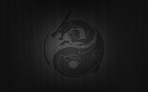 Yin Yang Dragon Carving by Drawder