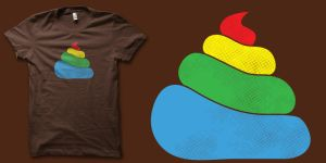Rainbow poop shirt by biotwist