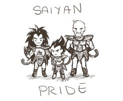 We Are Saiyans - sketch by Mizutori